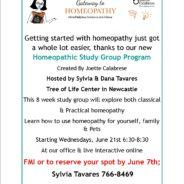 8-Week Intro to Classical and Practical Homeopathy Study Group